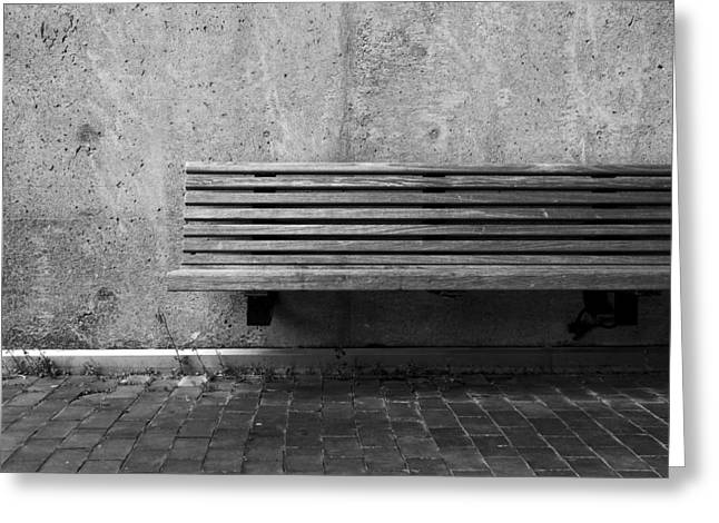 Empty Bench Greeting Card by Kyle Wasielewski