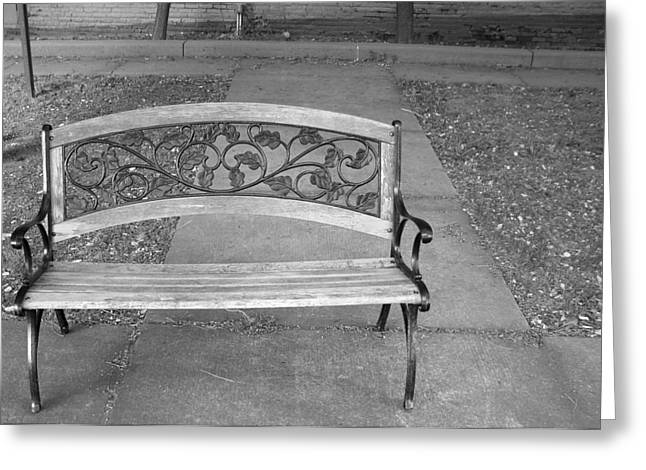 Empty Bench Greeting Card by Stephanie Grooms