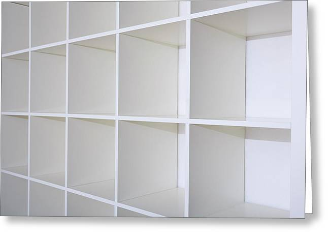 Empty Bookcase Greeting Card