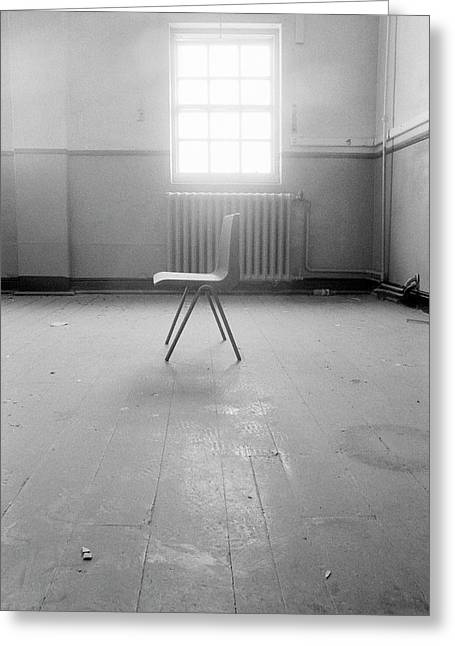 Empty Chair Greeting Card by Larry Dunstan/science Photo Library