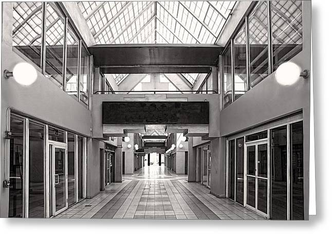 Empty Mall Greeting Card by Rudy Umans