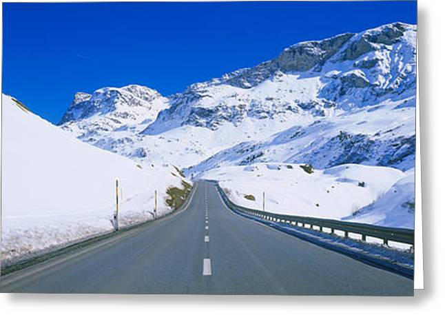 Empty Road Passing Through A Polar Greeting Card