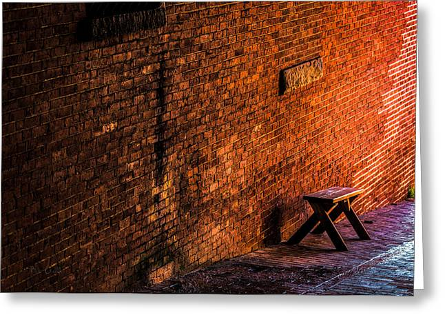 Empty Seat On A Hill Greeting Card by Bob Orsillo