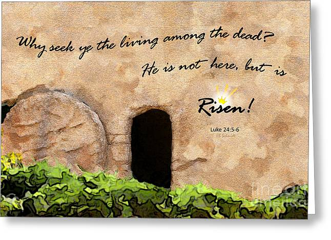 Empty Tomb - Luke 24 Greeting Card