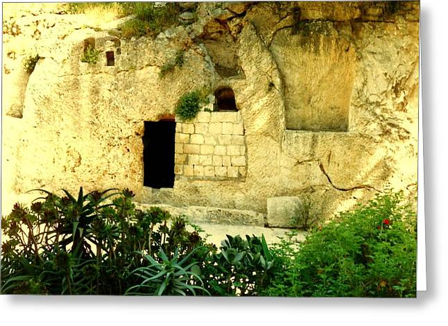Empty Tomb Of Jesus Greeting Card by Lou Ann Bagnall