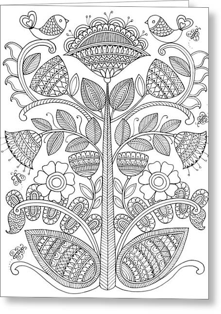 Emroidery Pattern 1 Greeting Card