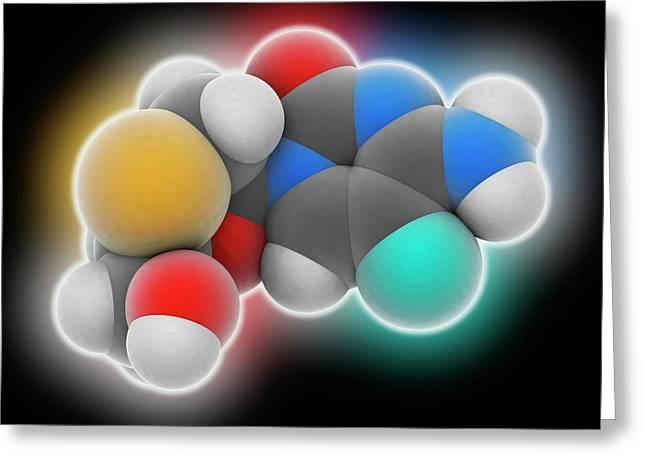 Emtricitabine Drug Molecule Greeting Card