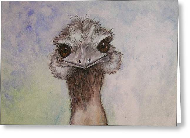 Emu Selfie Greeting Card