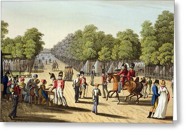Encampment Of The British Army Greeting Card by Franz Joseph Manskirch