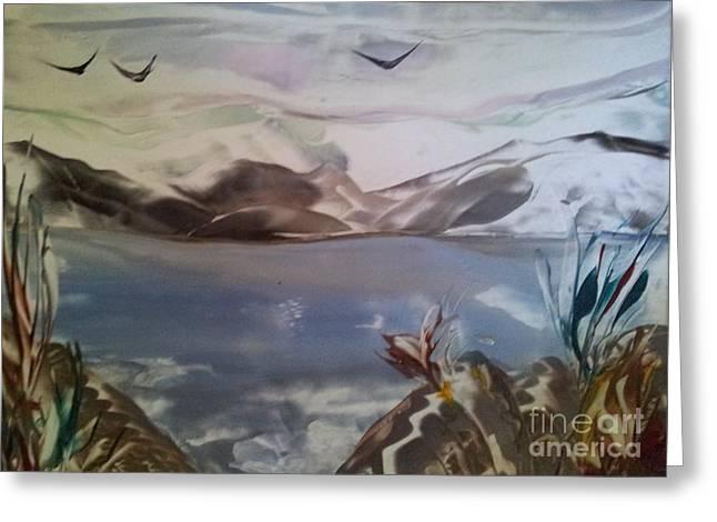 Encaustic Art Greeting Card by Debra Piro