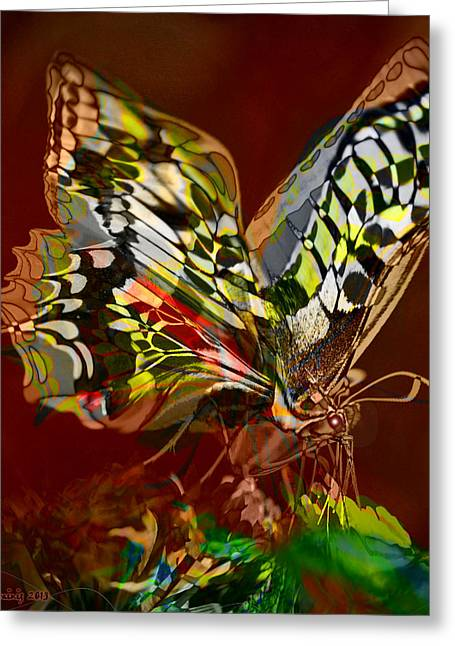 Enchanted Butterfly. First.  Greeting Card by Tautvydas Davainis