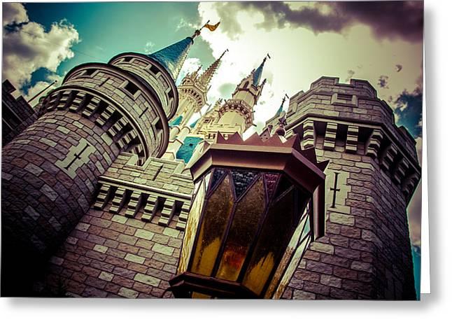 Enchanted Castle Greeting Card by Andrew Delos Santos