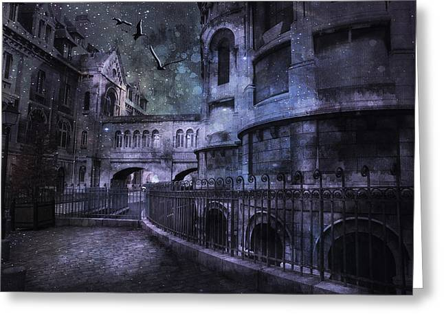 Enchanted Castle Greeting Card by Evie Carrier
