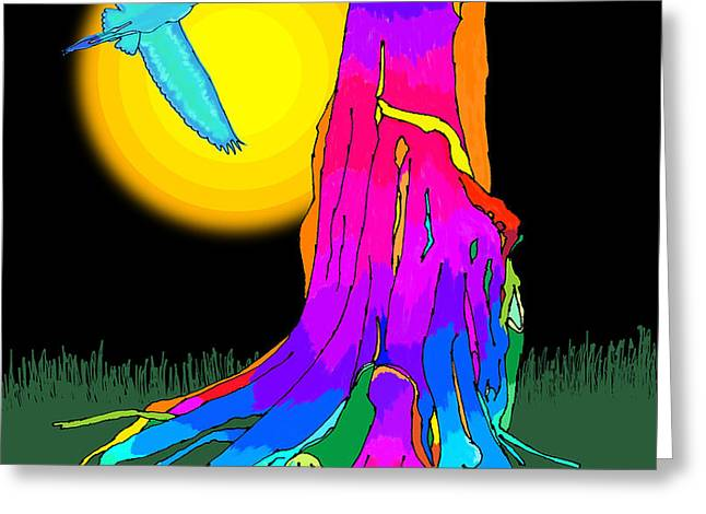 Enchanted Dream Tree Greeting Card by Gerry Robins