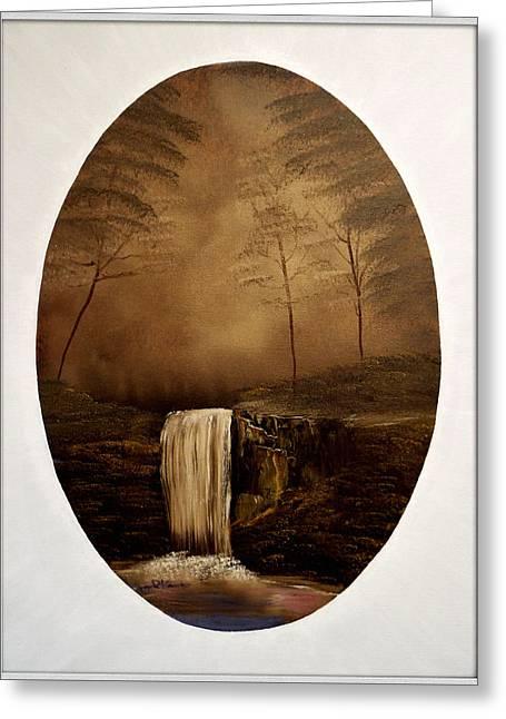 Enchanted Falls Greeting Card by Joyce Krenson