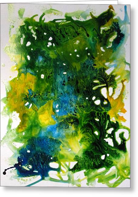 Enchanted Forest Greeting Card by Mary Kay Holladay