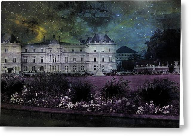 Enchanted Garden Paris Greeting Card by Evie Carrier