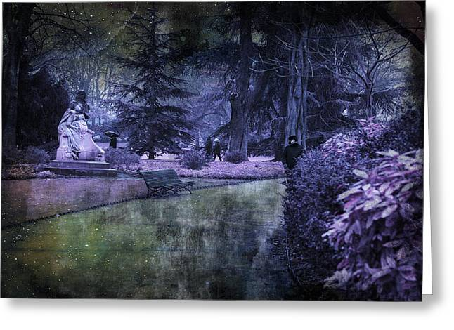 Enchanted In Paris Greeting Card by Evie Carrier