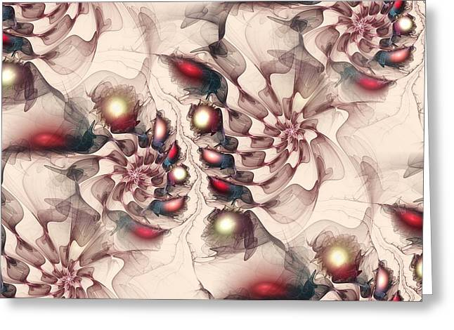 Enchanted Map Greeting Card by Anastasiya Malakhova