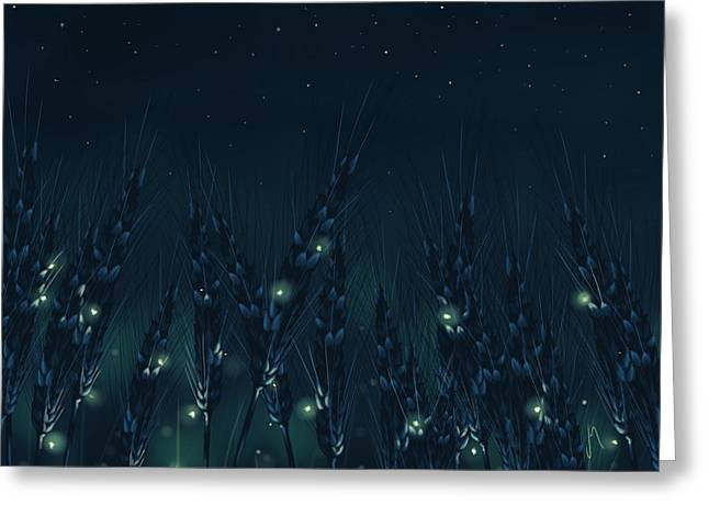 Enchanted Night Greeting Card by Veronica Minozzi