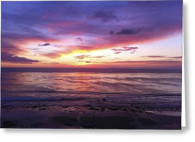 Enchanted Ocean Sky Greeting Card by Adam West