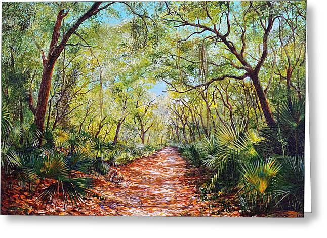 Enchanted Path Greeting Card by AnnaJo Vahle