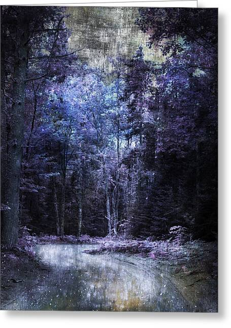 Enchanted Path Greeting Card by Evie Carrier