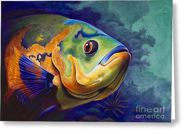 Enchanted Reef Greeting Card by Scott Spillman