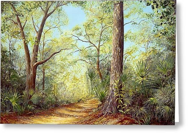 Enchanted Trail Greeting Card by AnnaJo Vahle