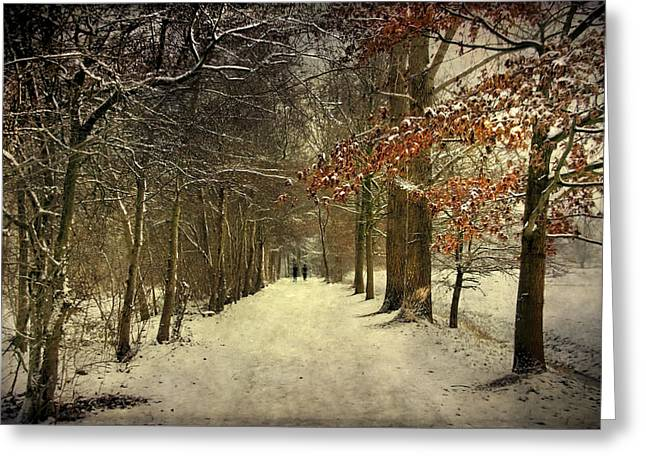 Enchanting Dutch Winter Landscape Greeting Card