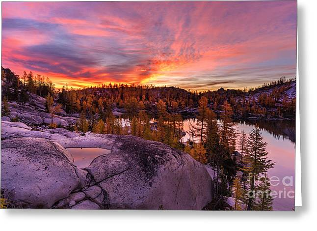Enchantments Golden Fall Colors Greeting Card by Mike Reid