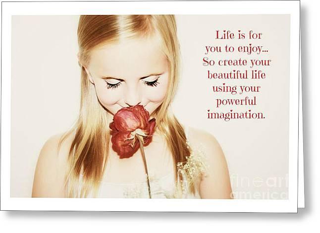Encourage Imagination Greeting Card