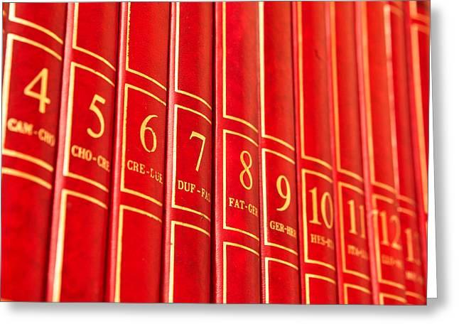 Encyclopedia Greeting Card by Tom Gowanlock