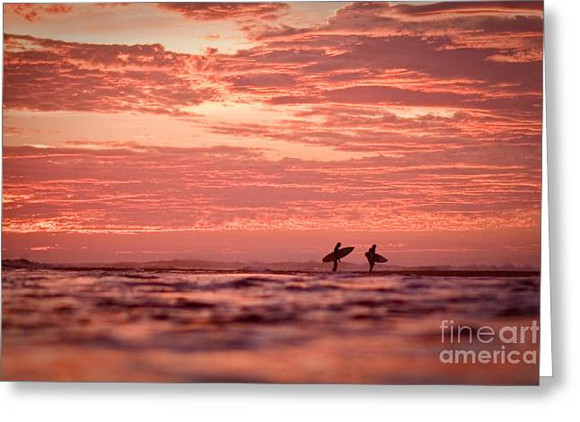 Greeting Card featuring the photograph End Of A Perfect Day by Paul Topp