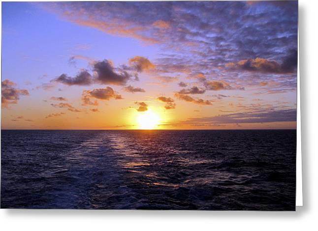 Hawaiian End Of Day Greeting Card