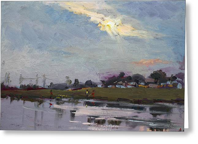 End Of Day By Elmer's Pond Greeting Card by Ylli Haruni