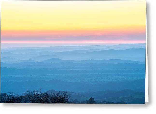 End Of Day Figueroa Mountain Greeting Card