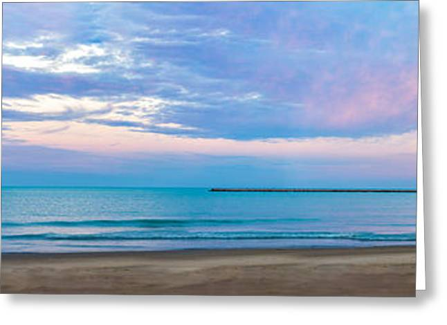 Greeting Card featuring the photograph End Of The Blue Hour by Steven Santamour