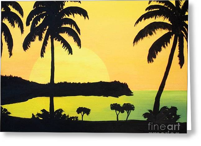 End Of The Day Greeting Card by Kenneth Regan