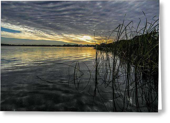 End Of The Day Mirrored Greeting Card by Christy Usilton
