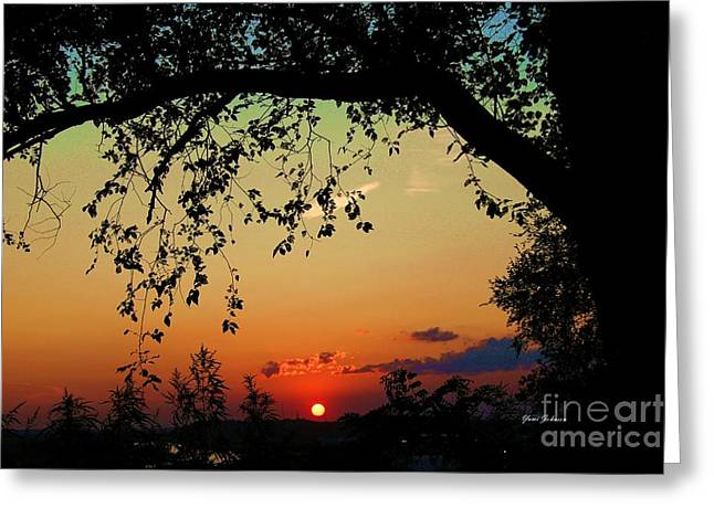 End Of The Day Greeting Card by Yumi Johnson