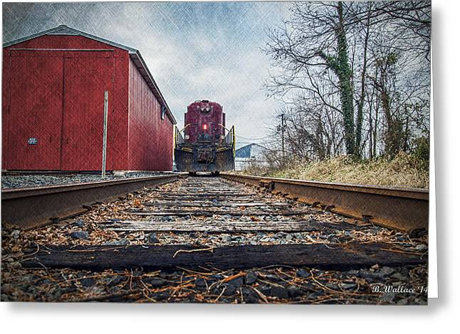 End Of The Line Greeting Card by Brian Wallace