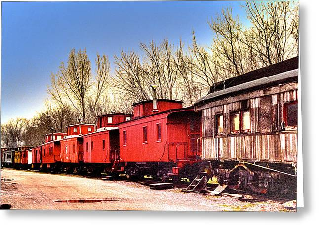 End Of The Line Greeting Card by Chas Burnam