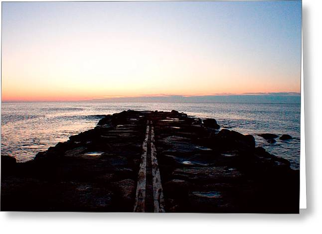 Greeting Card featuring the photograph End Of The Road by Jon Emery