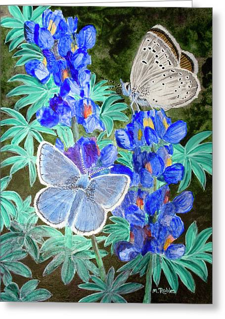 Endangered Mission Blue Butterfly Greeting Card by Mike Robles