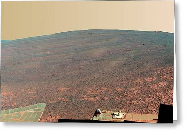 Endeavour Crater Greeting Card by Nasa/jpl-caltech/cornell/asu