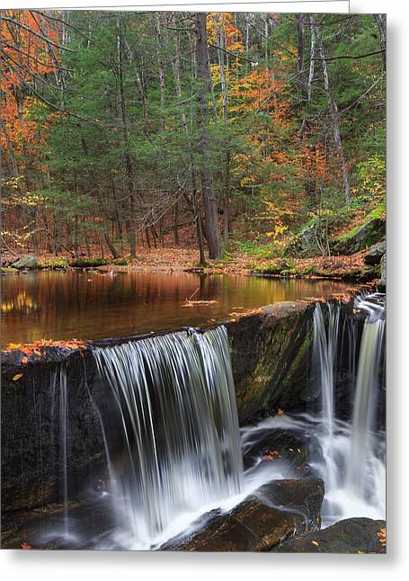 Enders Falls Square Greeting Card by Bill Wakeley
