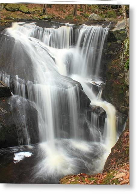 Enders Falls Waterfall Granby Connecticut Greeting Card by John Burk