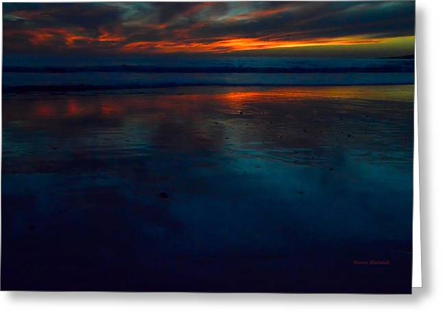 Ending Reflections Greeting Card by Donna Blackhall
