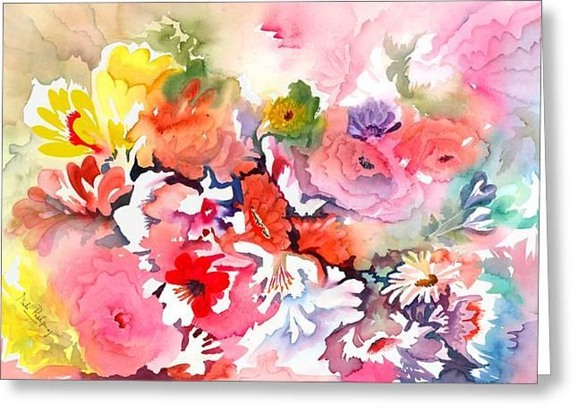 Endless Blossoms Greeting Card by Neela Pushparaj